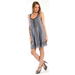 Clothing Women Short Dresses Sud Express ROBE RONALDE CIMENT Grey