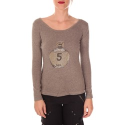 Clothing Women jumpers Vision De Reve Vision de Rêve Pull Five Col Rond 1036 Taupe - Brown