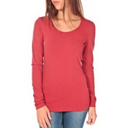 Clothing Women Long sleeved tee-shirts Tom Tailor Lara Stretch Longsleeve Rouge Red
