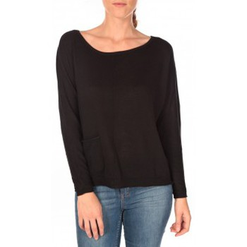 Clothing Women jumpers Tom Tailor Basic Structure Pullover Noir Black