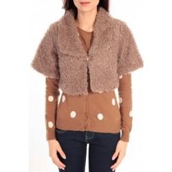 Clothing Women Jackets Dress Code Boléro Monique Marron Brown