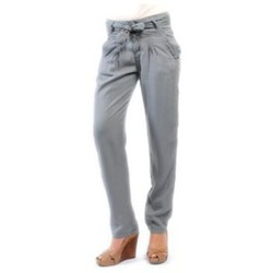 Clothing Women Trousers Sud Express PANTALON PIROIR CIMENT Grey