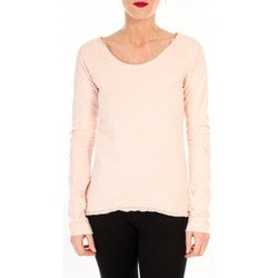 Clothing Women Long sleeved tee-shirts By La Vitrine T-shirt Empiècement Pailleté 2119 Rose Poudre Pink