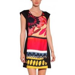 Clothing Women Short Dresses Desigual VEST_JUANA Robe 31V2858  Noir Black
