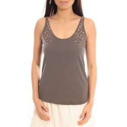 Clothing Women Tops / Sleeveless T-shirts Blune Débardeur Lendemain de fête LF-DF01E13 Gris Grey