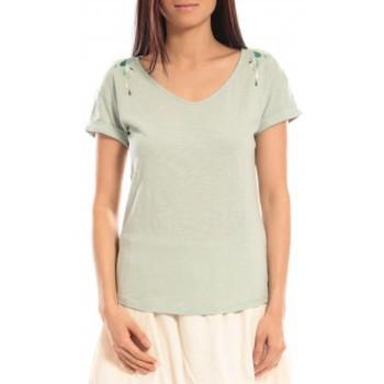 Clothing Women Short-sleeved t-shirts Blune T-shirt Larmes de Joie LJ-TF01E13 Vert Green