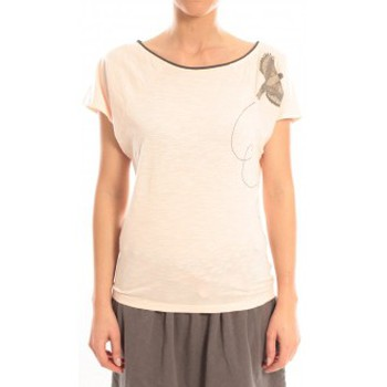 Clothing Women Short-sleeved t-shirts Blune T-Shirt Libre Comme l'Air LCL-TF02E13 Rose Pink