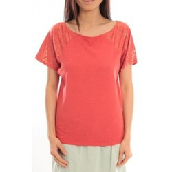 Clothing Women Short-sleeved t-shirts Blune T-Shirt Pointilleuse PO-TF02E13 Rouge Red