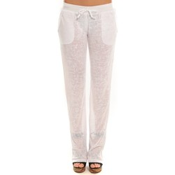 Clothing Women Tracksuit bottoms By La Vitrine Pantalon  BLV01Blanc White