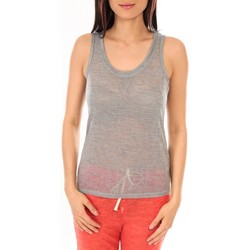 Clothing Women Tops / Sleeveless T-shirts By La Vitrine Débardeur BLV06 Gris Grey