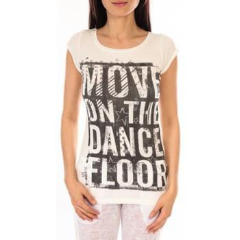 Clothing Women short-sleeved t-shirts L'atelier Du Marais T-shirt Atelier du Marais DANCEFLOOR Blanc White