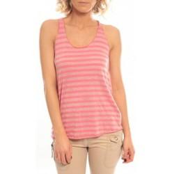 Clothing Women Tops / Sleeveless T-shirts So Charlotte Oversize tank Top Stripe T36-371-00 Rose Pink