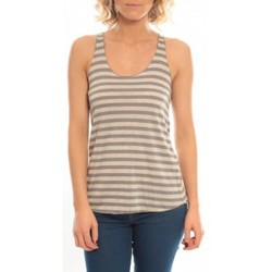 Clothing Women Tops / Sleeveless T-shirts So Charlotte Oversize tank Top Stripe T36-371-00 Gris Grey