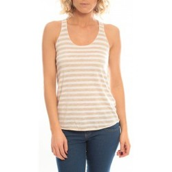 Clothing Women Tops / Sleeveless T-shirts So Charlotte Oversize tank Top Stripe T36-371-00 Blanc White