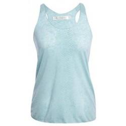 Clothing Women Tops / Sleeveless T-shirts So Charlotte Oversize tank Top Snake Burnout T53-371-00 Vert Green