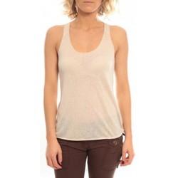 Clothing Women Tops / Sleeveless T-shirts So Charlotte Oversize tank Top Snake Burnout T53-371-00 Beige Beige