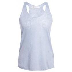 Clothing Women Tops / Sleeveless T-shirts So Charlotte Oversize tank Top Snake Burnout T53-371-00 Gris Grey