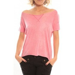 Clothing Women short-sleeved t-shirts So Charlotte Tight short sleeves Tee all snake T53-406-00 Rose Pink