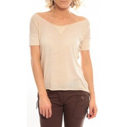 Clothing Women short-sleeved t-shirts So Charlotte Tight short sleeves Tee all snake T53-406-00 Beige Beige