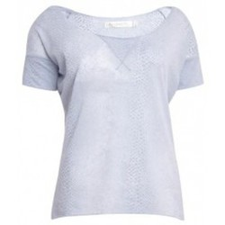 Clothing Women short-sleeved t-shirts So Charlotte Tight short sleeves Tee all snake T53-406-00 Gris Grey