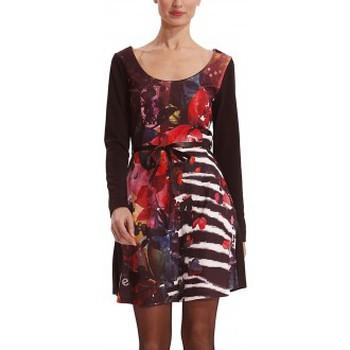 Clothing Women Short Dresses Desigual Robe VEST_LIANA 38V2100 Black