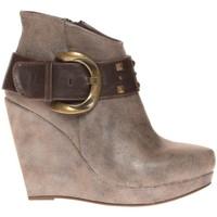 Shoes Women Shoe boots Cassis Côte d'Azur Bottines Anaee Belt Bronze Brown