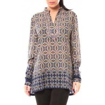 Clothing Women Shirts Dress Code Chemisier SHK F323 Bleu Blue