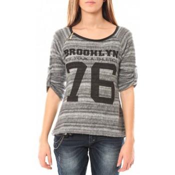 Clothing Women Jumpers De Fil En Aiguille Pull Brooklyn 76 Grey