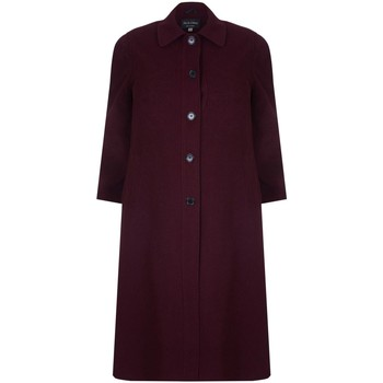 Clothing Women coats David Barry Single Breasted Wool and Cashmere Blend Long Winter Coat Red