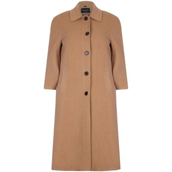 Clothing Women coats De La Creme Single Breasted Wool and Cashmere Blend Long Winter Coat Beige