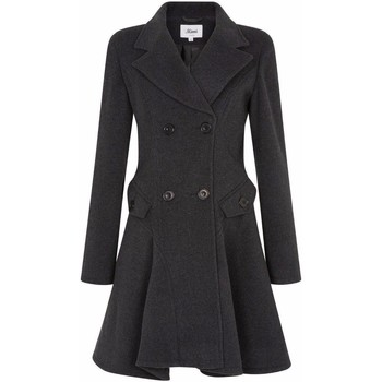 Clothing Women Coats De La Creme Wool Winter Double Breasted Fit and Flare Winter Coat Grey