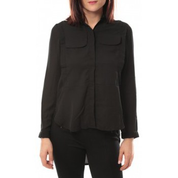 Clothing Women Shirts By La Vitrine Chemise Eloise 285 Noir Black