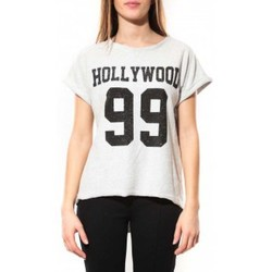 Clothing Women Short-sleeved t-shirts By La Vitrine Tee Shirt Hollywood 99 Blanc White