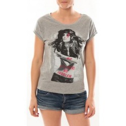 Clothing Women short-sleeved t-shirts L'atelier Du Marais T-Shirt Want To See Gris Grey
