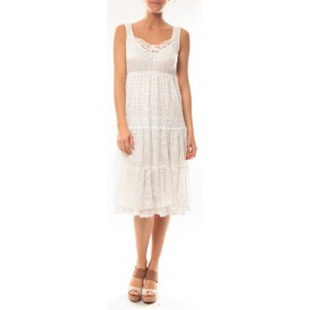 Clothing Women Short Dresses Dress Code Robe LF11252 Blanc White