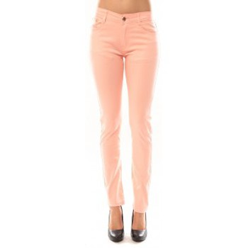 Clothing Women Trousers Tcqb Pantalon B3523 Rose Pink