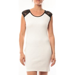 Clothing Women Short Dresses Dress Code Robe Love Look 320 Blanc White