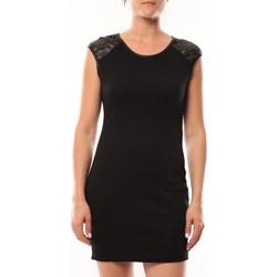 Clothing Women Short Dresses Dress Code Robe Love Look 320 Noir Black