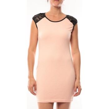 Clothing Women Short Dresses Dress Code Robe Love Look 320 Rose Pink