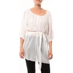 Clothing Women Tunics De Fil En Aiguille Robe JL Blanc White