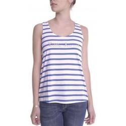 Clothing Women Tops / Sleeveless T-shirts Little Marcel Débardeur Domino E14IBF031 Blanc White