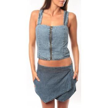 Clothing Women Tops / Sleeveless T-shirts Dress Code Bustier Saxx Bleu Blue