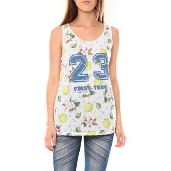 Clothing Women Tops / Sleeveless T-shirts Tcqb Débardeur NYOU 23 Blanc White