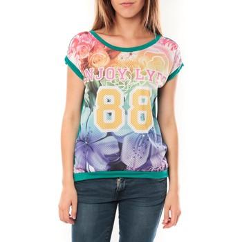 Clothing Women short-sleeved t-shirts Tcqb T-shirt 88 Vert Green