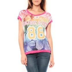 Clothing Women short-sleeved t-shirts Tcqb T-shirt 88 Rose Pink