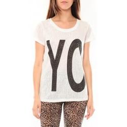 Clothing Women short-sleeved t-shirts Tcqb Tee shirt SL1511 Blanc White
