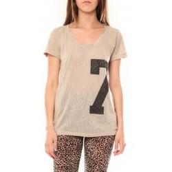 Clothing Women short-sleeved t-shirts Tcqb Tee shirt SL1601 Beige Beige