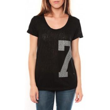Clothing Women short-sleeved t-shirts Tcqb Tee shirt SL1601 Noir Black