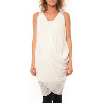 Clothing Women Dresses By La Vitrine ROBE Blakie SL Short Dress  Blanc White
