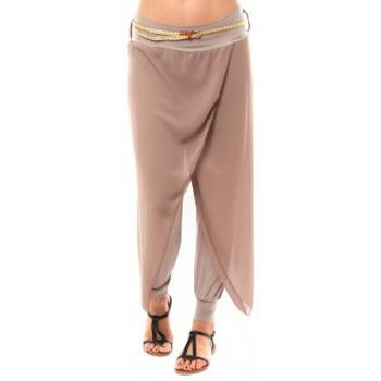 Clothing Women Cropped trousers Dress Code Pantalon O.D Fashion Beige Beige